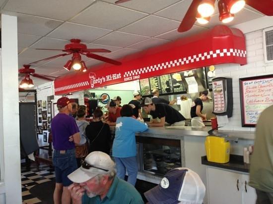 Gordy's HI Hat Drive-Inn: Ordering counter. Food is prepared fresh and fast.