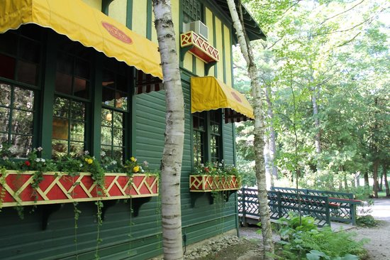 Side View Picture Of The Woods Restaurant Mackinac Island
