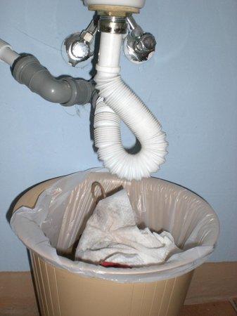 Jammin' Riccione Beach & Fun Hotel: In camera il lavandino perde: il cestino dei rifiuto raccoglie l'acqua