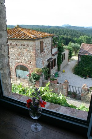Podere Alberese : View from our room. The room below with the terrace was even better than ours