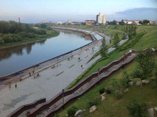 Tyumen, รัสเซีย: La passeggiata sul fiume..