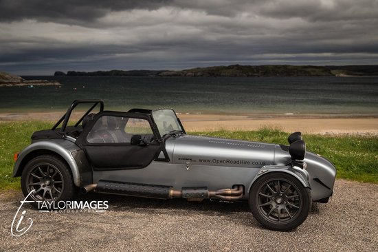 Highland Caterham Hire: A shot of the car at Talmine