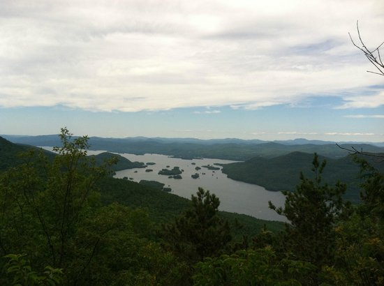 Black Mountain Loop: View of Lake George from the top of Black Mountain