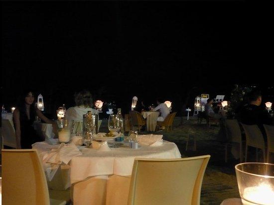 Restaurant La Prua: La vista  dai tavoli in spiaggia