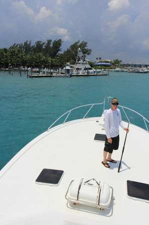 Reel Candy Sportfishing: Eric, ready for the dock lines.