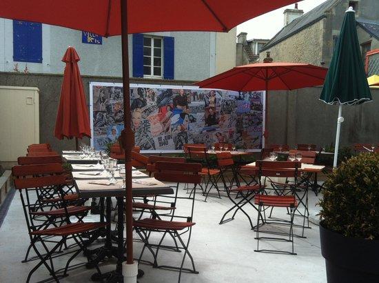 Brasserie d'en face: Terrasse