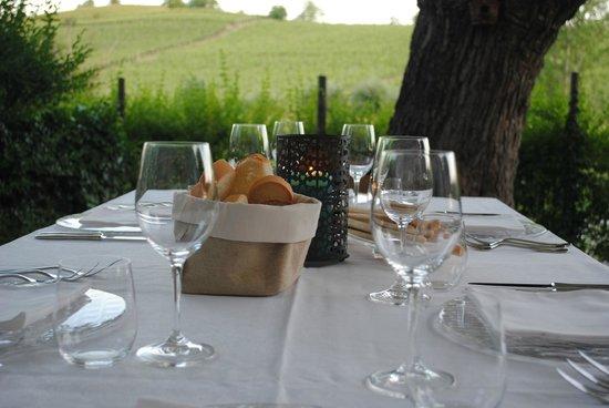 Cascina Dani: pranzo in giardino...