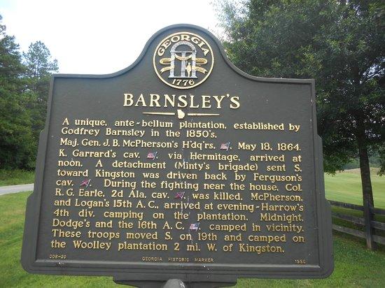 Barnsley Resort: Historical sign about Barnsley