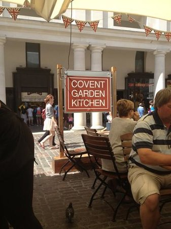 Covent Garden Kitchen: defiantly a must to sit outside