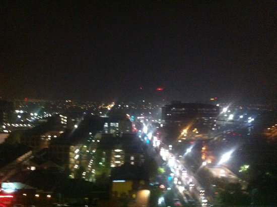 Oaks Embassy: night view from top floor