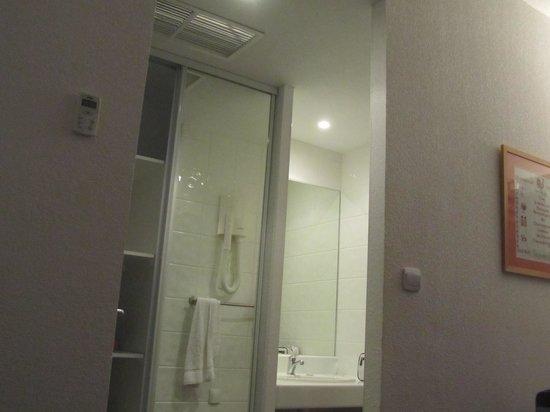 Hotel Le Patio de Violette : Salle de bain vue de la chambre