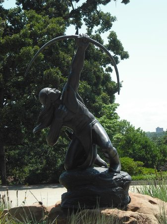 Gilcrease Museum: Houser statue outside of museum entrance