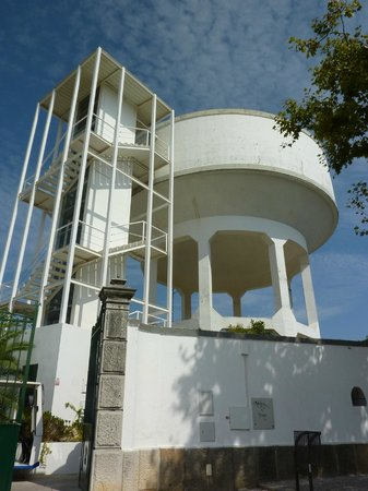 Camera Obscura: the water tank - now home to the Camâra Obscura