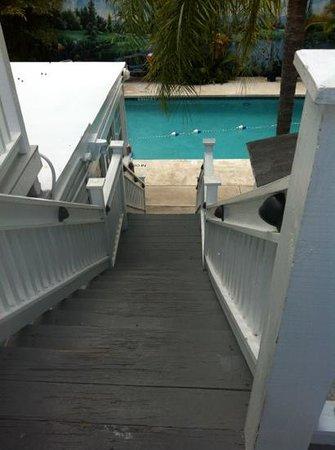 Rose Lane Villas: villa alta stairs to pool