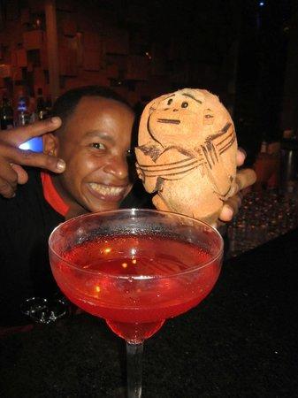 Gabi Beach : At the bar with Bob the monkey!  Got him for 20.00!