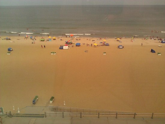 Ocean Sands Resort : View from our room!  Can't be much closer.