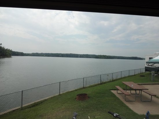 Nashville Shores RV Resort & Campground: View from our lakeside site