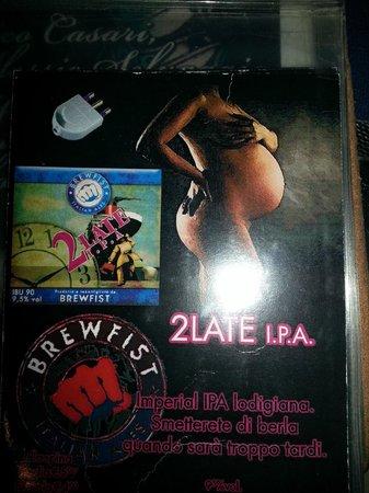 Pazzeria: Apa 2late brewfist