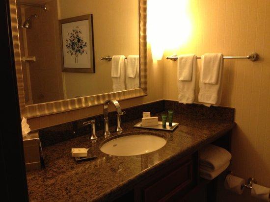 Hilton Arlington: Restroom vanity