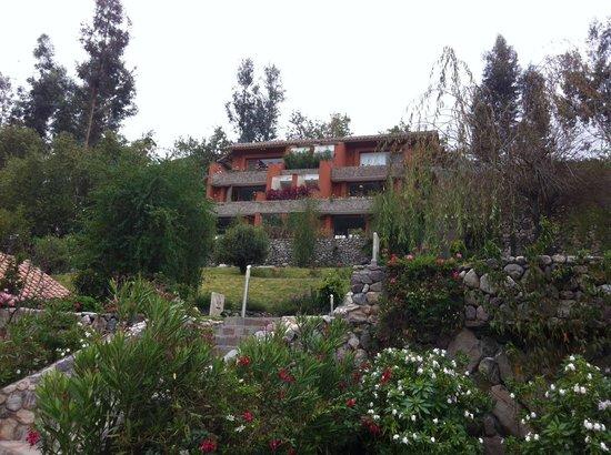 Belmond Hotel Rio Sagrado: Vista desde el jardín del restaurante