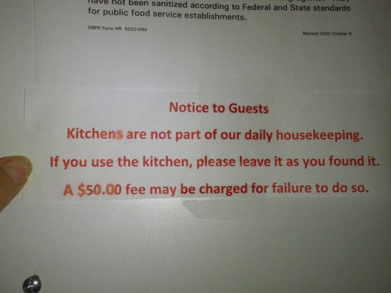 "Seashell Beach Resort: The ""kitchen"" was literally an old stove and a few dishes and they want to charge more money?"