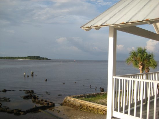 Island Place: view from deck - low tide