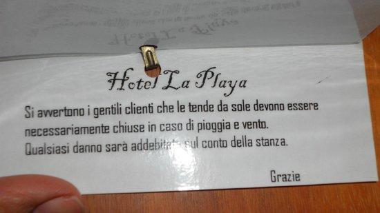 Hotel La Playa : come se non bastasse!!