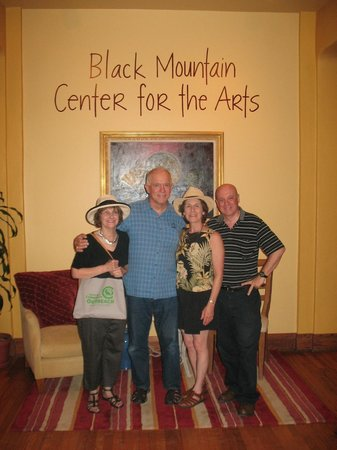 Black Mountain Center for the Arts: The foyer of the Center. That's me on the far right.