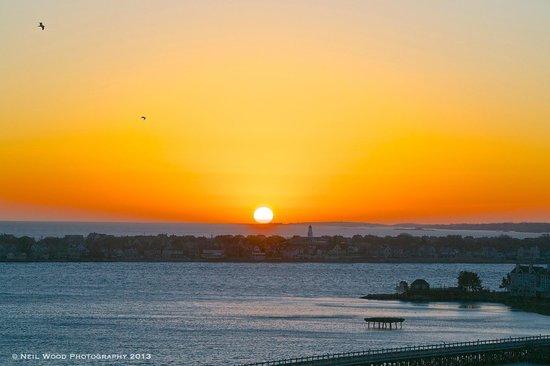 Nantasket Beach : Sunrise from Fort Revere, Hull, Mass