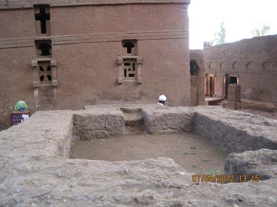 Felsenkirchen von Lalibela: A church of the northern Lalibela group