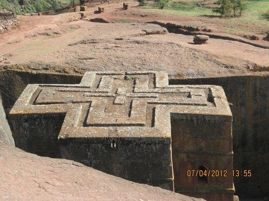 Felsenkirchen von Lalibela: St. Georgis´ top