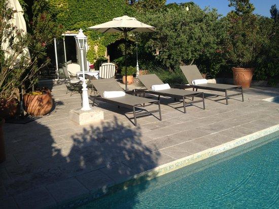 Hotel Le Vallon de Valrugues & Spa : Our own terrace and pool