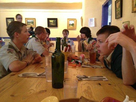 Harry's Roadhouse : Boy Scouts Having Lunch