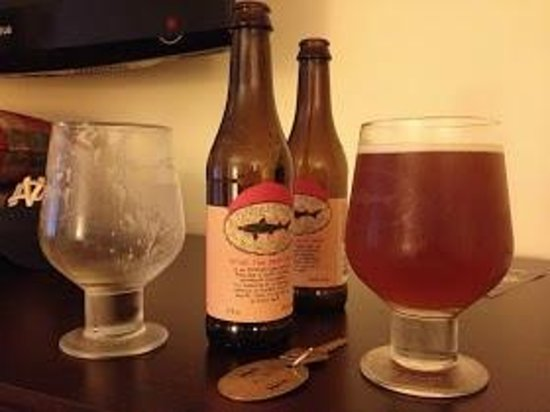 Dogfish Head Brew Pub Tour: Yes cold beer and chilled glasses!