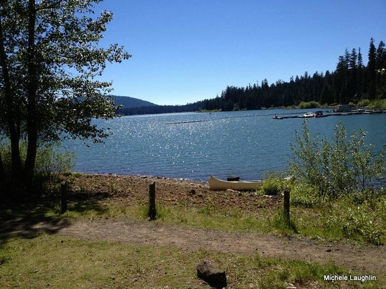 This was the view in the afternoon from campsite 1 for Fish lake oregon