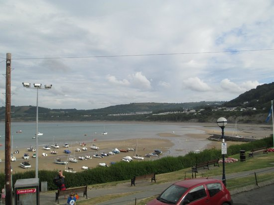 Traeth Bistro: View from the outdoor seating area