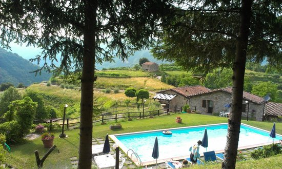 Agriturismo Summer. : the lovely pool and views of the mountains