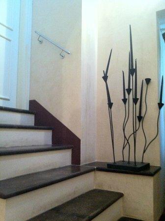 De Stefano Palace Luxury Hotel : devant la porte de notre chambre, dernier étage