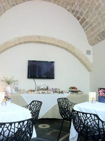 De Stefano Palace: Salle du petit déjeuner et buffet
