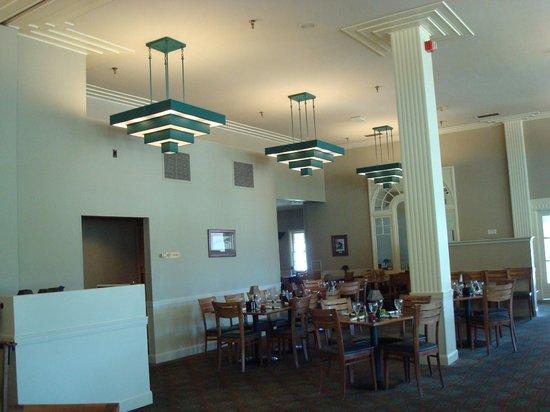 note the art deco light fixtures - picture of mammoth hot springs