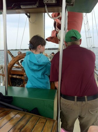 Spirit of Buffalo - Buffalo Sailing Adventures : Big Captain with little captain in training!