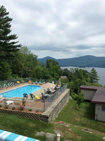 Contessa Lake George Motel & Resort: Our beautiful view from the penthouse suite
