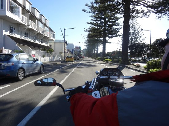 Supertrike Tours and Hire: riding down the main boulevard