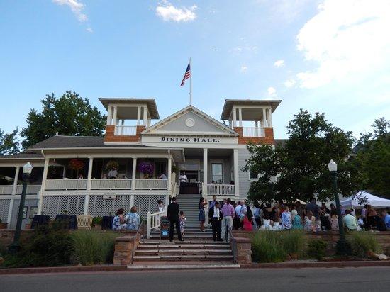 Chautauqua Park: Chautauqua Dining Hall hosting a wedding reception