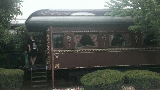 The Madison Hotel: railroad dinner car. parts of rods restaurant.