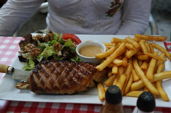 Le Trouvere : magret de canard frites