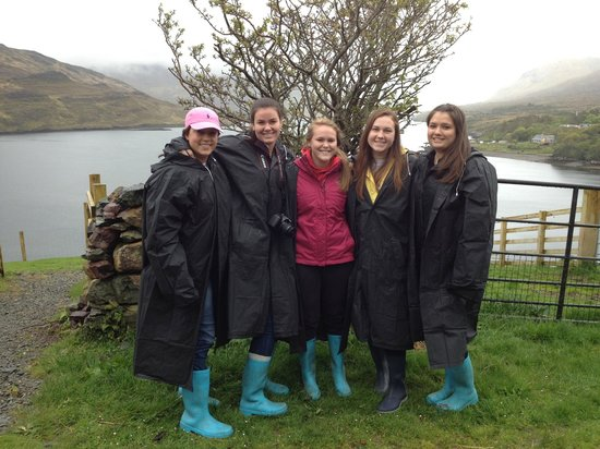 Killary Sheep Farm : Decked out in our boots and rain coats!