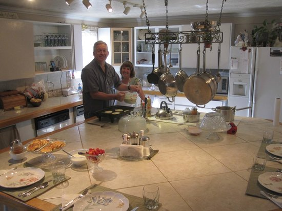 Rose Walk Inn Bed and Breakfast: Frühstück am 2. Tag: die berühmten Pancakes