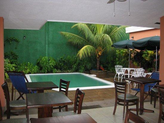 Hotel El Almendro Managua: Poolside at hotel