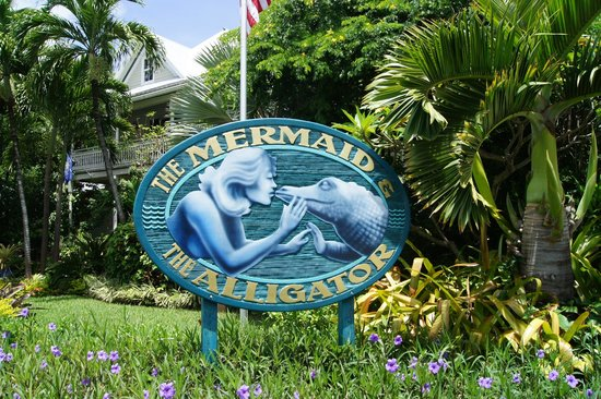 The Mermaid & The Alligator: Front sign